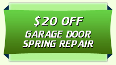 $20 off garage door spring repair